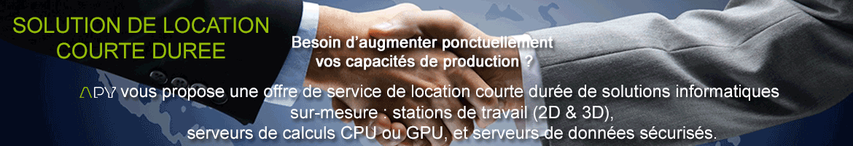Location courte duree workstation APY europe