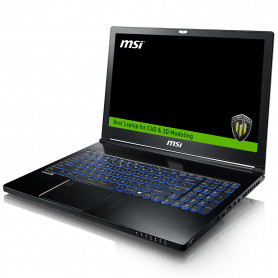 MSI PORTABLE WORKSTATION Kabylake i7-7700HQ QUADRO P3000 WS63 7RK-645XFR
